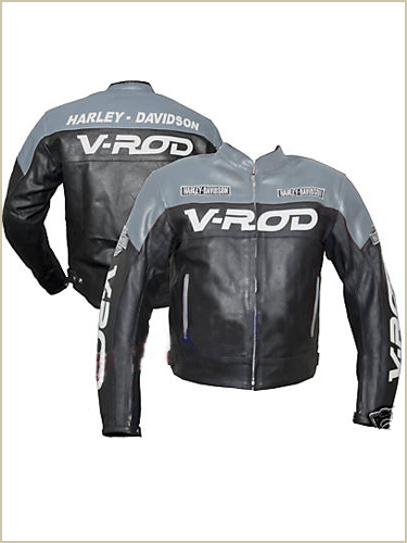 Harley Davidson V ROD motorbike leather jacket