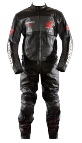 Stylish Honda Black Motorbike Leather Suit