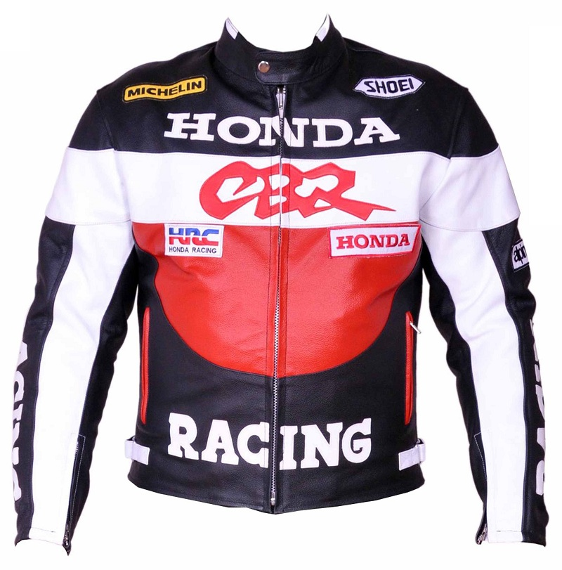 Honda CBR Red Color Motorcycle Leather Jacket