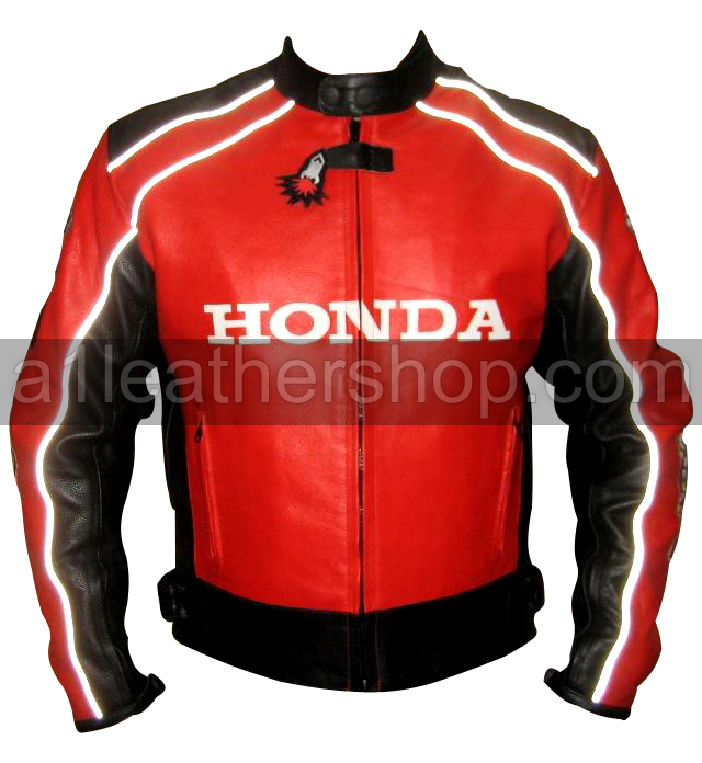 Honda Joe Rocket Red Black Motorcycle Racing Leather Jacket