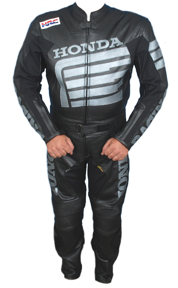 Honda biker racing leather suit