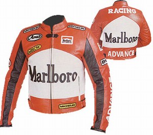 Marlboro advance racing motorcycle leather jacket