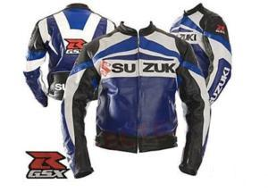 SUZUKI Brand GSXR Motorbike Leather Jacket