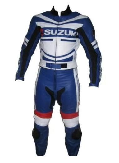 Stylish SUZUKI Motorbike Racing Leather Suit