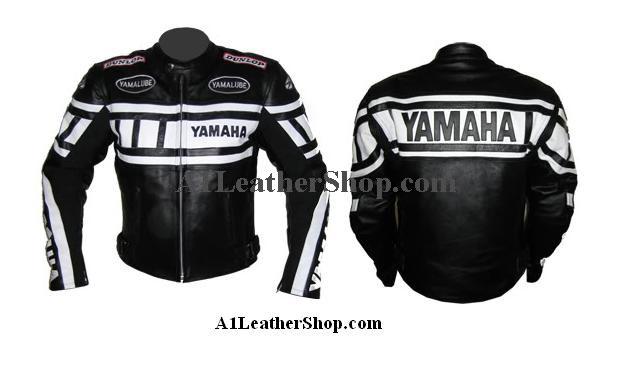 Stylish yamaha motorcycle racing leather jacket for Yamaha r1 motorcycle jackets