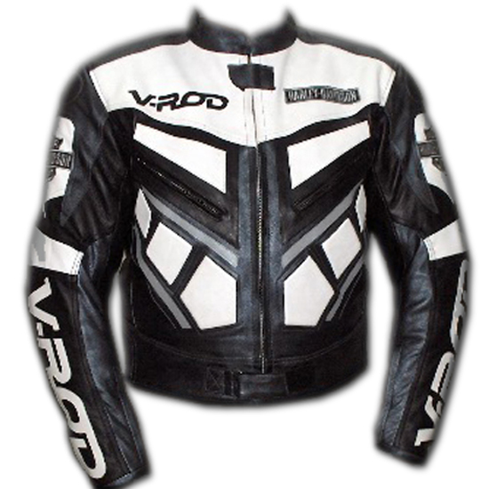 V ROD Beautiful Color Motorbike Leather Jacket
