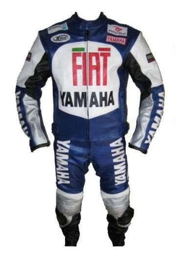 Stylish YAMAHA FIAT Motorbike Leather Suit