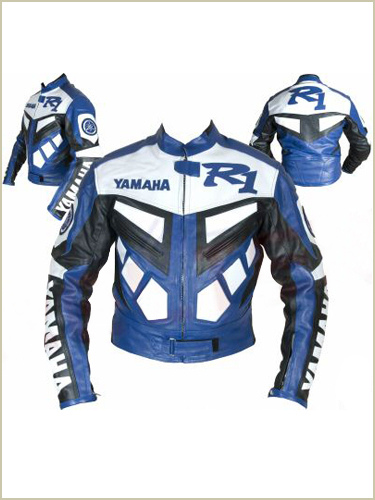Yamaha R1 Motorbike Leather Jacket