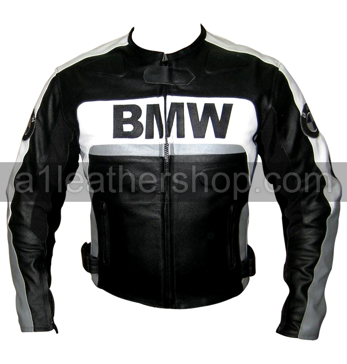 bmw motorrad black and white leather jacket