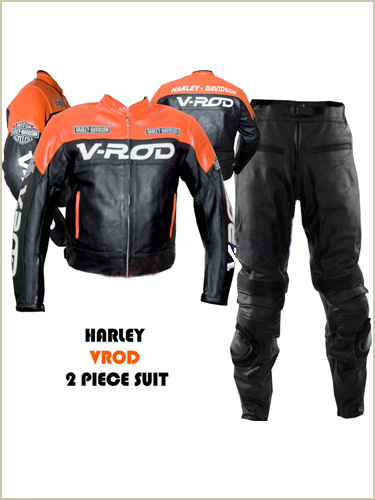 Harley Davidson V ROD Motorbike Leather Suit