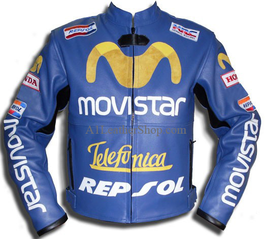 motorbike Movistar honda repsol leather jacket
