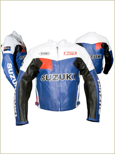 Motul Suzuki Motorbike Racing Leather Jacket