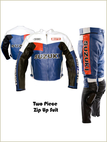 Motul Suzuki Racing Motorbike Leather Suit