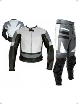two piece leather motorcycle racing suit