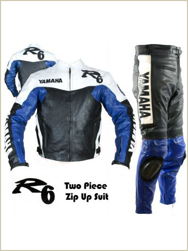 Yamaha R6 blue black white Motorbike Racing Suit