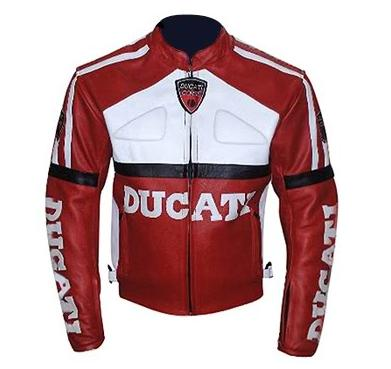 DUCATI Brand Race Replica Motorbike Leather Jacket