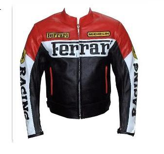 Ferrari Brand Motorcycle Leather Jacket