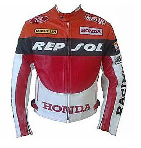 HONDA Racing REPSOL Mens Motorbike Leather Jacket