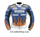 New stylish Honda Repsol Dunlop Motorbike Leather Jacket