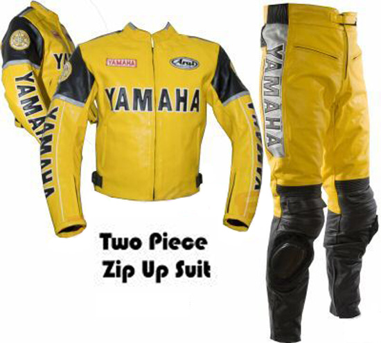 NEW YAMAHA YELLOW COLOR MOTORBIKE LEATHER SUIT