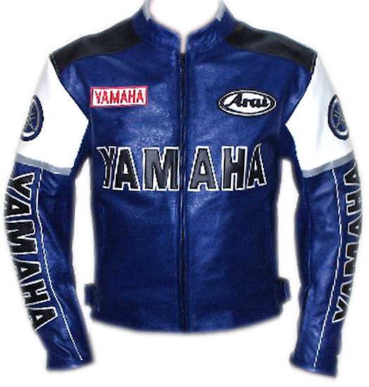 Yamaha Motorbike Cow Hide Leather Jacket