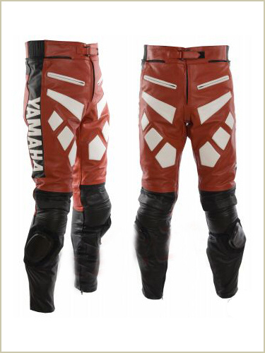 Yamaha Motorcycle Leather Pant Red Black color