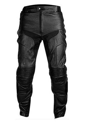 Black Motorcycle Leather Pant