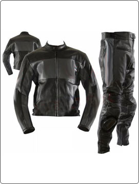 black color motorcycle leather suit