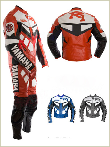 Yamaha R1 Motorcycle Racing Leather Suit
